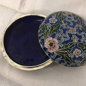 Cloisonne Trinket Dish and Lid